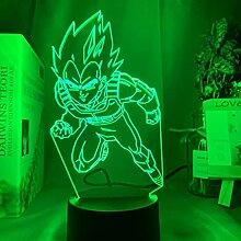 3d Lampe Dragon Ball Vegeta IV Figur Led