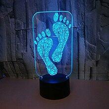 3d lampe fußabdruck nachtlicht energienbank