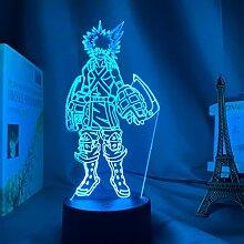 3D Lampe Katsuki Bakugo Figur Kinder Schlafzimmer