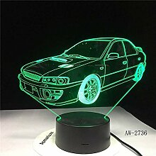 3D Lampe Kinderlampe mit ABS und Acrylsockel flach
