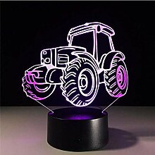 3D Lampe LED Nachtlicht Farm Vintage Traktor Auto
