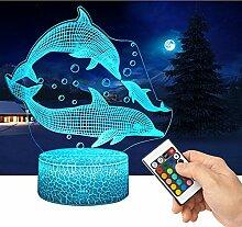 3D Lampe LED Nachtlicht mit Fernbedienung,