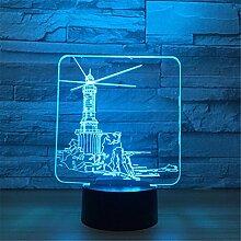 3D Lampe LED Nachtlicht Optische Täuschung 7
