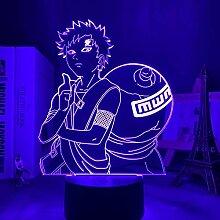 3D Lampe NARUTO Gaara Figur Kinder Nachtlicht LED