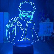 3D Lampe Naruto Pain Anime LED Nachtlicht mit