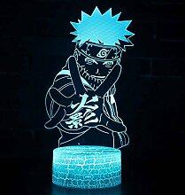 3D Lampe Naruto Uzumaki Naruto LED Nachtlicht für