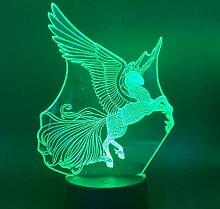 3D Lampe Pegasus Farben Ändern Nachtlicht für