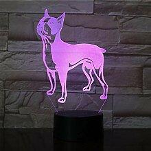 3D-Lampe Pet Dogs Puppy Pretty Present für Infant