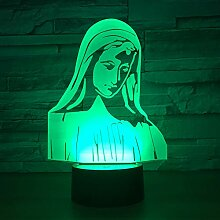 3D Lampe Schlafzimmer Tisch Nachtlicht Acryl Panel