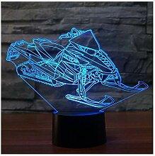 3D Lampe Snowmobile 7 Farbe Led Nachtlichter Für