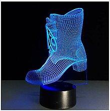 3D Lampe Stiefel 7 Farbe Led Nacht Für Kinder