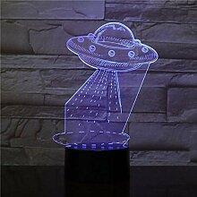3D-Lampe Ufo Alien Touch Sensor Farbwechsel mit