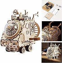 3D Laser Cut Holz Puzzle Musik Box Roboter, DIY