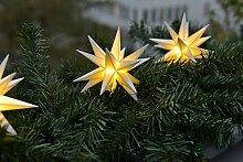 3D LED 3er Sternenkette weiß Mini Stern 12cm