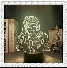 3D Led Illusion Lampe Nachtlicht Usb Anime Otome