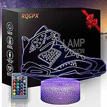 3D-LED-Illusionslampe, Basketballschuhe, F, 16