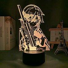 3d Led Lampe Anime Schwert Kunst Online Sinon