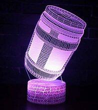 3D LED Lampe Nachtlicht, CKW 7 Farben Wählbar