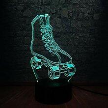 3D LED Lampe Sport Roller Skates Multicolor