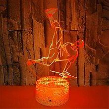 3D LED-Lampen Nachtlicht, 7 Farben,