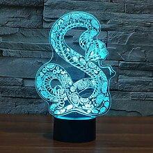 3D-LED-Lampen nahe Licht, 7 Farben,