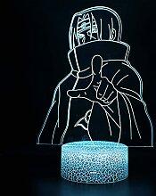 3D LED mehrfarbiges Nachtlicht, Japan Anime Naruto