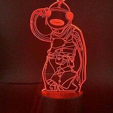 3D LED Nachtlicht ecor Lampe mit Fernbedienung und