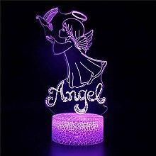 3D LED Nachtlicht Engel A 3D Nachtlicht Stimmung