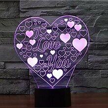 3D LED Nachtlicht Ich liebe dich Lampe
