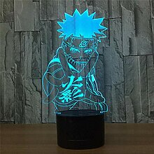 3D LED Nachtlicht, Illusion Lampe, 3D visuelle