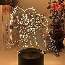 3D Led Nachtlicht Illusion Schreibtischlampe Anime