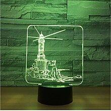 3D LED Nachtlicht Neue Fantastische Leuchtturm 3D