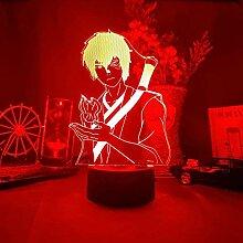 3D LED Nachtlicht Prince Zuko Silhouette Illusion