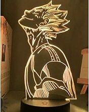 3D LED Nachtlicht, TOD HINWEIS Anime Figuren