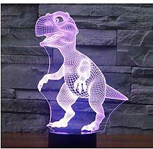 3D Led Nachtlichter Dinosaurier Mit 7 Farben Licht