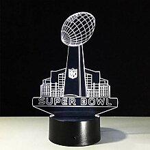 3D LED NFL Acryl Lampe Panel Super Bowl Rugby