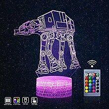 3D LED Star Wars Nachtlicht 3D Illusion Lampe