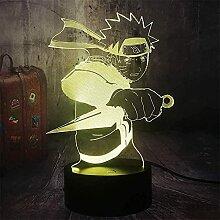 3D Licht für Kinder Neue coole Japanische Anime