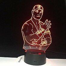 3D Licht Nachtlampe John Cena Sport Wrestler 3D
