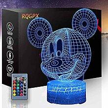 3D-Lichtlampe Mickey Mouse 3D Optische Illusion