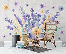 3D lila Blume Wohnzimmer Schlafzimmer Tapete
