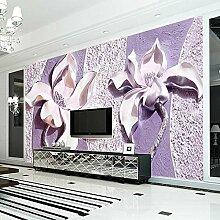 3d lila magnolie tapete schlafzimmer wohnzimmer tv