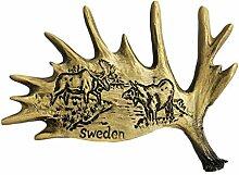 3D Links Elch Geweih Schweden Souvenir