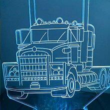 3D Lkw Auto Optische Illusions Lampe 7 Farben