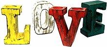 3D Love Große Buchstaben sortiert Farben