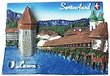3D Luzern Schweiz Kühlschrank Kühlschrankmagnet