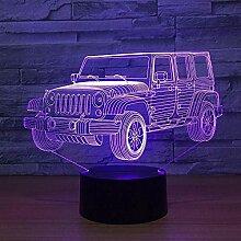 3D magische Laterne LED Nachtlicht Auto Gradient