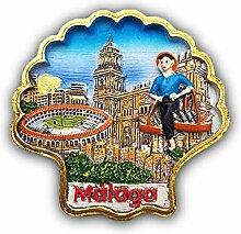 3D Malaga Spanien Kühlschrank Kühlschrank Magnet
