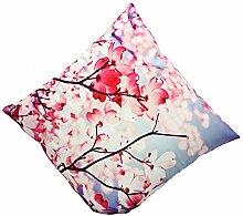 3D-maple leaf Blume Drucken Festival Kopfkissen Mode Bed Home Aufkleber Kissen hülle Cover vintage Stil, blau
