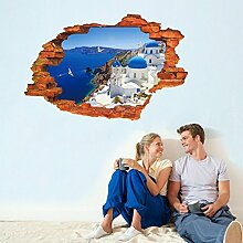 3D Mediterrane Landschaft Fake Fenster Wand